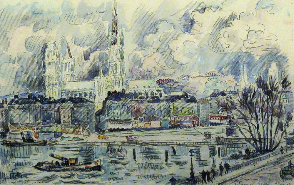 Paul Signac - View of the Cathedral of Rouen