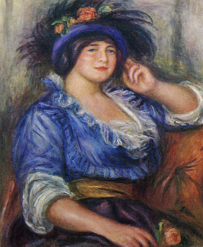 Pierre-Auguste Renoir - Young Girl with a Rose (Mme. Colonna Romano)