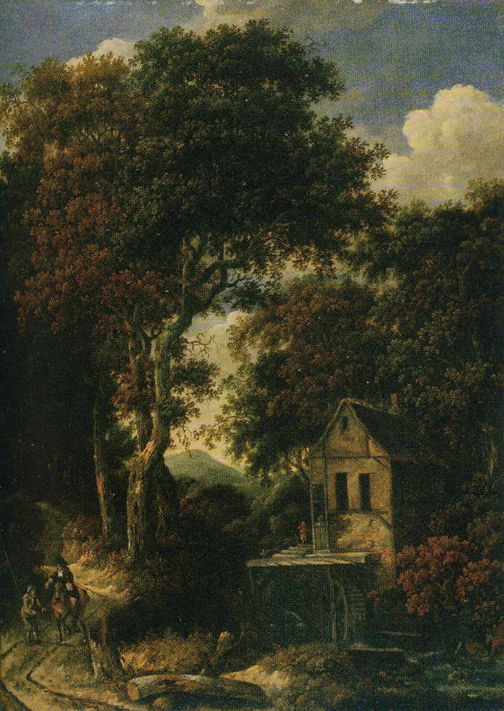 Copy after Roelof van Vries - Forest Scene with a Mill