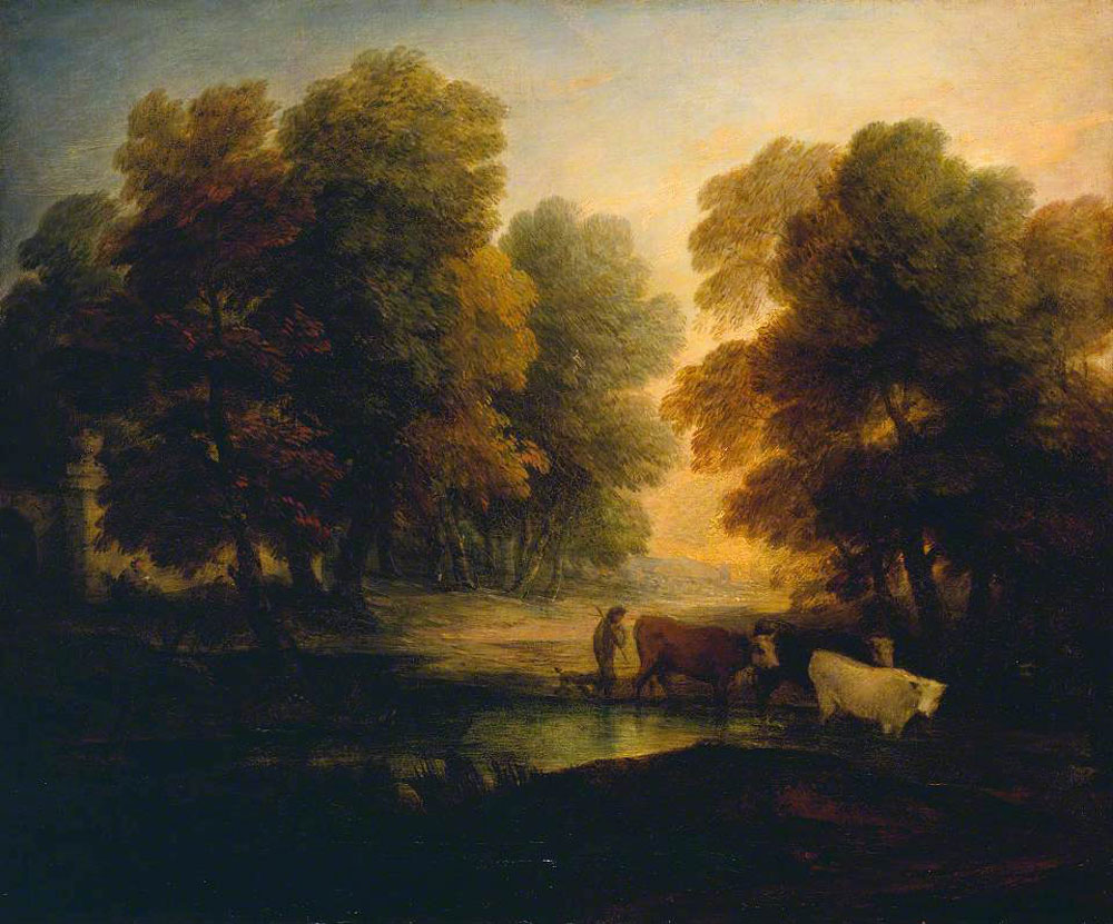 Thomas Gainsborough - Boy Driving Cows near a Pool