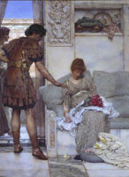 Lawrence Alma-Tadema A Silent Greeting