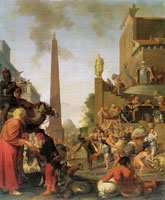 Bartholomeus Breenbergh Joseph selling corn in Egypt