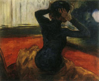 Edgar Degas Woman Tying on a Hat