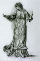 Edward Burne-Jones Study of a Dancing Woman for 'The Mill'