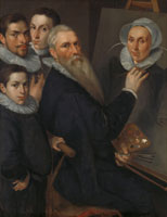 Jacob Willemsz. Delff - Self-Portrait of the Painter with his Family