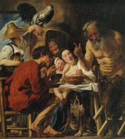 Jacob Jordaens The Fable of the Satyr and the Peasant