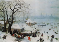 Lucas van Valckenborch Winter Landscape near Antwerp