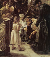 Max Liebermann The Twelve Year Old Jesus in the Temple
