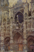Claude Monet Rouen Cathedral (The Portal, Gray Weather; Harmony in Gray)