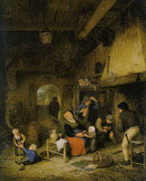 Adriaen van Ostade Peasant Family by a Hearth