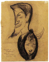 Paul Gauguin Caricature of J.F. Willumsen and Juliette Willumsen