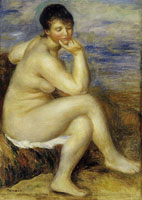 Pierre-Auguste Renoir Bather Seated on a Rock