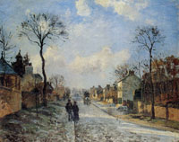 Camille Pissarro The Road to Louveciennes