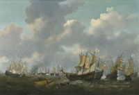 Reiner Zeeman - The Battle of Leghorn, 4th March 1653, during the First Anglo-Dutch War (1652-54)