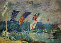 Alfred Sisley The Regatta at Molesey (near Hampton Court)