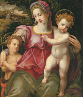 Michele Tosini - The Madonna and Child with the Infant Saint John the Baptist