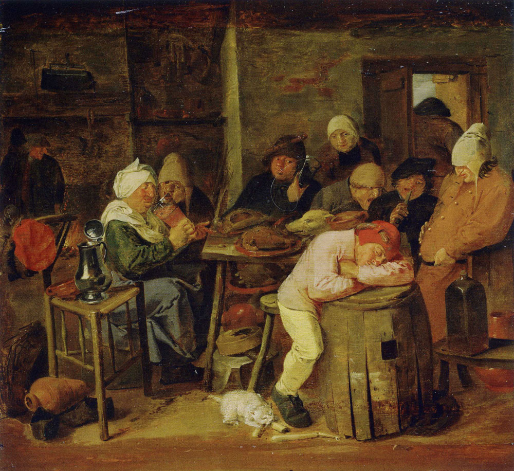 Adriaen Brouwer - The Slaughter Feast