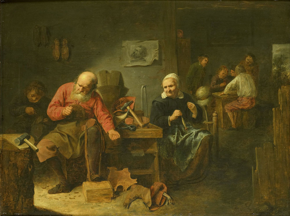 David Ryckaert III - Interior of a Cobbler's Shop