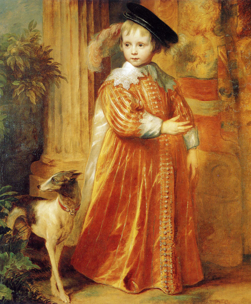 Anthony van Dyck - Portrait of William II as a Child with a Whipper