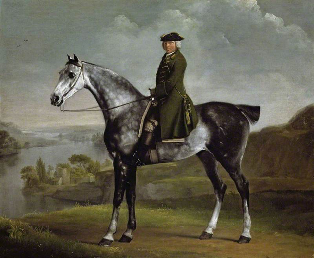 George Stubbs - Joseph Smyth Esquire, Lieutenant of Whittlebury Forest, Northamptonshire, on a Dapple Grey Horse