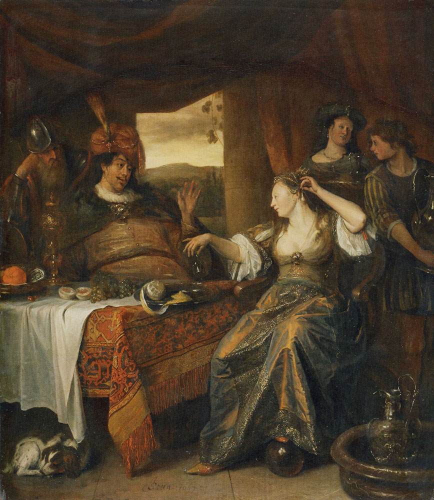 Jan Steen - Banquet of Anthony and Cleopatra