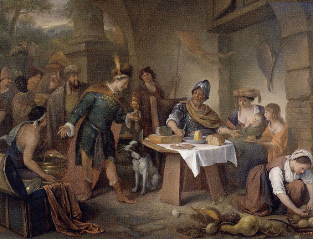 Jan Steen - The Roman Consul Manius Curius Refusing the Gifts of the Samnites
