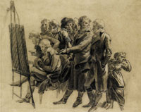 Louis-Léopold Boilly Study for The Meeting of Artists in Isabey's Studio