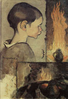Louis Anquetin Child's Profile and Study for a Still Life