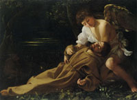 Caravaggio St Francis of Assisi in Ecstasy