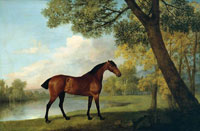 George Stubbs Bay Hunter by a Lake