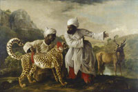 George Stubbs Cheetah and Stag with Two Indians