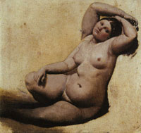 Jean Auguste Dominique Ingres Oil  sketch for The Turkish Bath