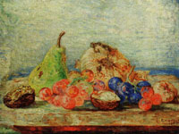 James Ensor Pear, Grapes and Nuts
