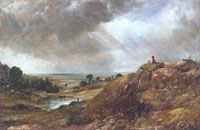John Constable Branch Hill Pond, Hampstead Heath, with a Boy Sitting on a Bank