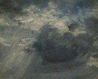 John Constable Sky Study with a Shaft of Sunlight
