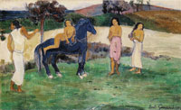 Paul Gauguin Composition with Figures and a Horse