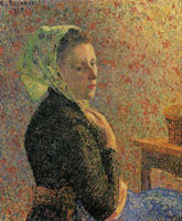 Camille Pissarro Woman with Green Scarf