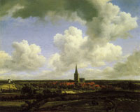 Jacob van Ruisdael Extensive Landscape with a View of the Town of Ootmarsum