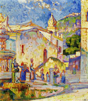 Theo van Rysselberghe Fountain at Tourmina (Sicily)