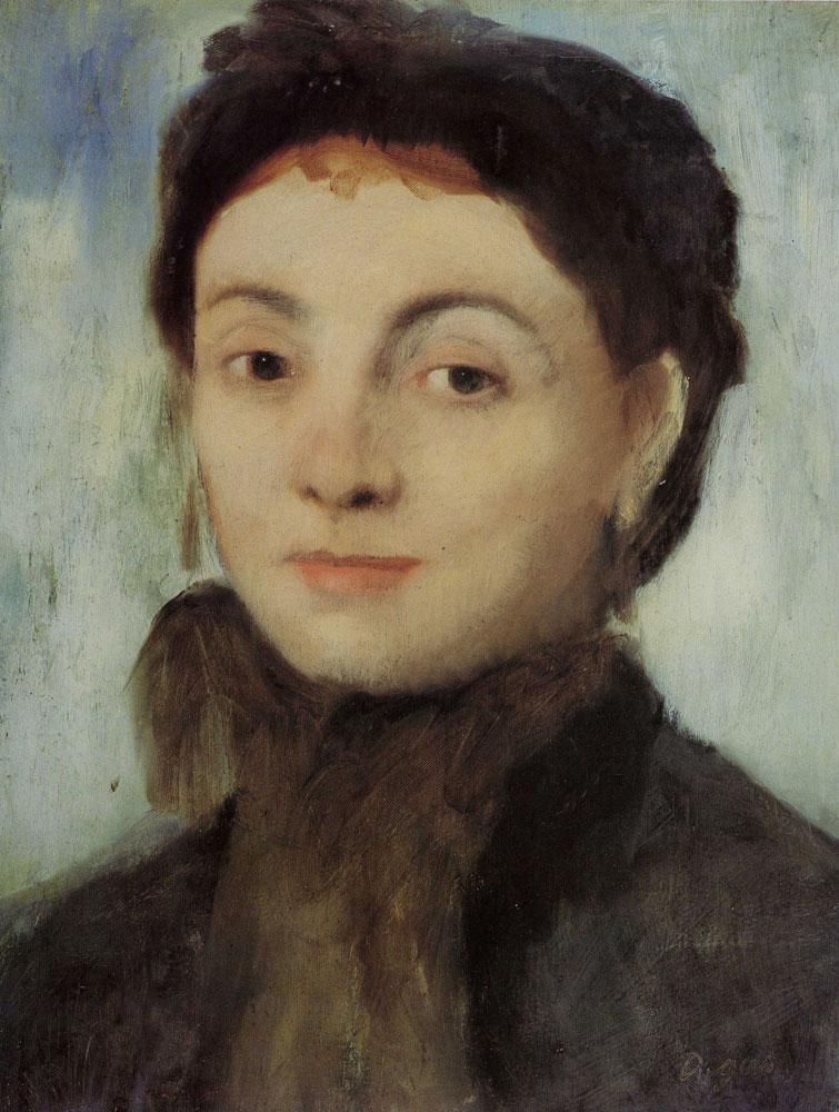 Edgar Degas - Portrait of Joséphine Gaujelin