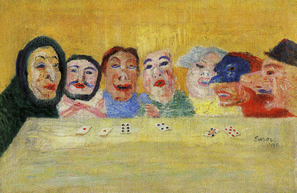 James Ensor - Masks Playing Cards