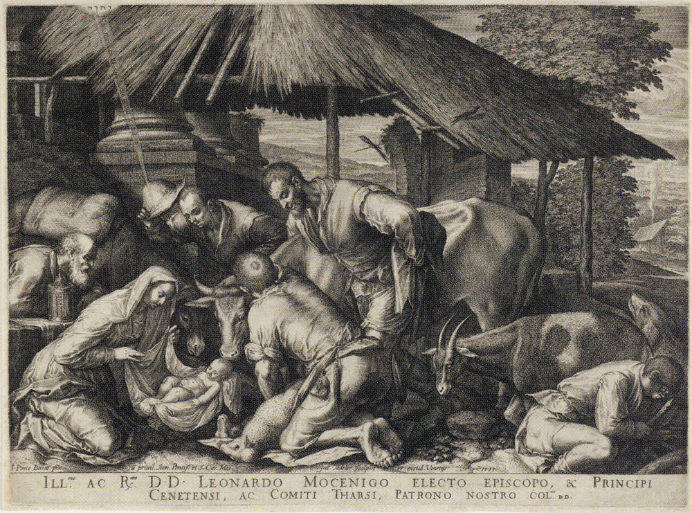 Johannes Sadeler after Jacopo Bassano - Adoration of the Shepherds