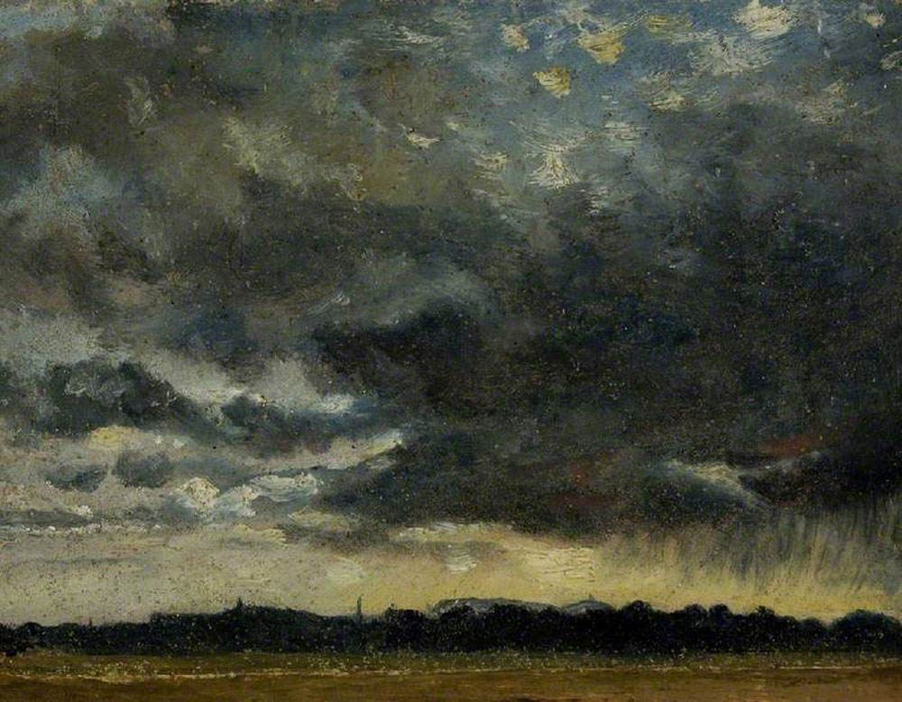 Attributed to John Constable - At Hampstead, Looking towards Harrow