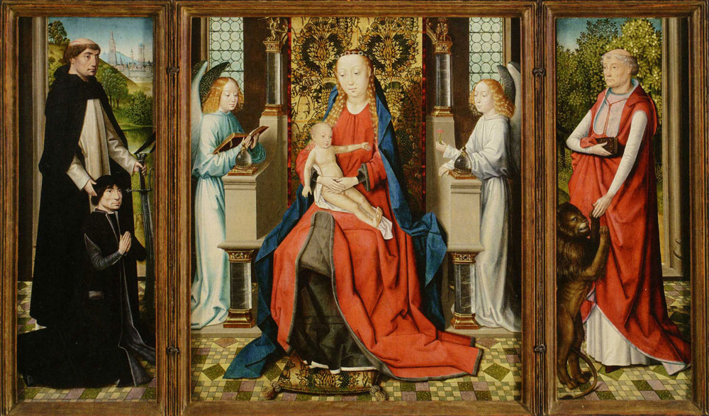 Master of the Legend of Saint Lucy - Triptych of the Virgin and Child and Saints
