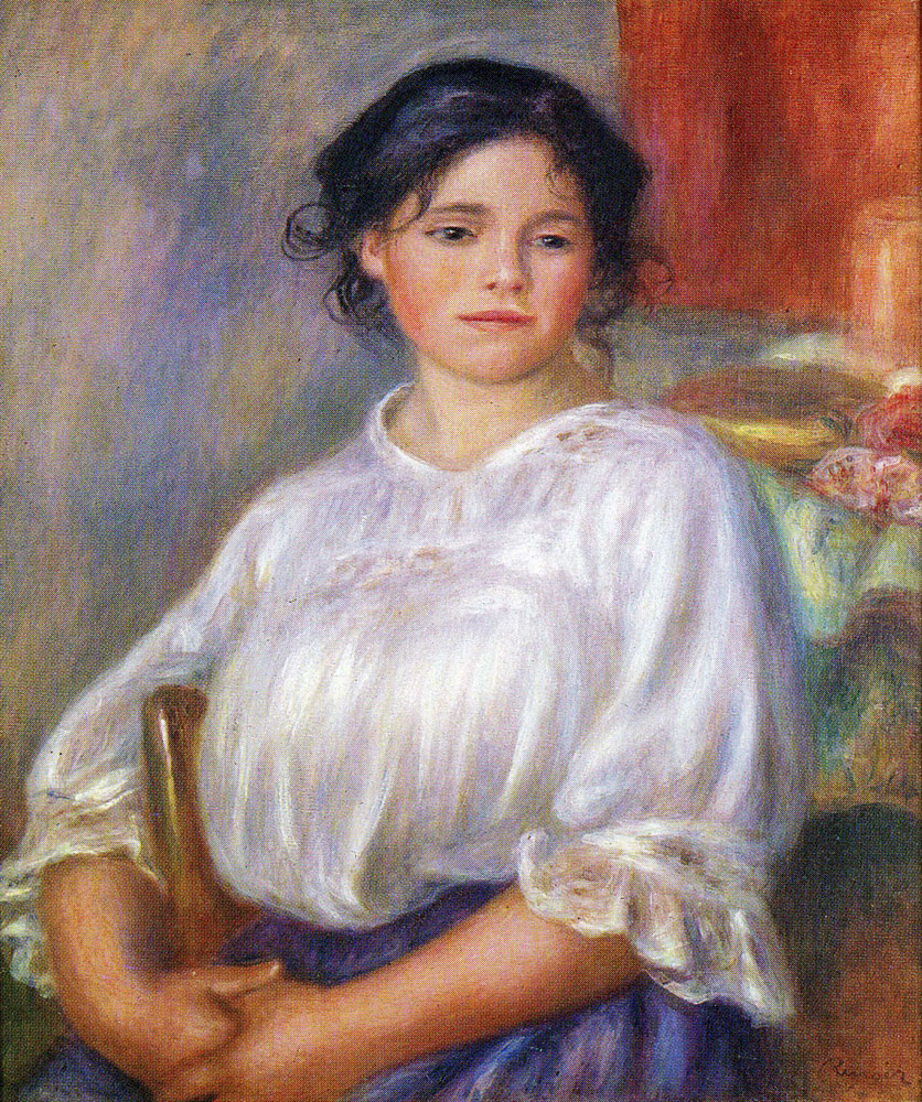 Pierre-Auguste Renoir - Seated Young Girl (Hélène Bellon)