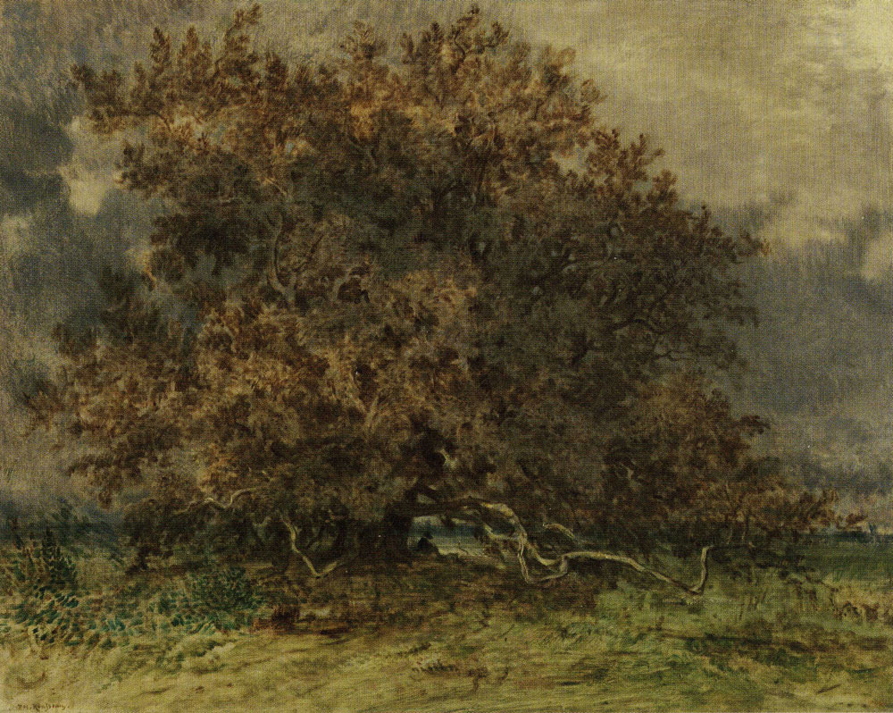 Théodore Rousseau - The Crooked Tree at the Carrefour de l'Epine