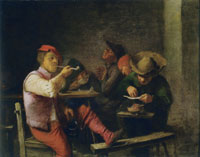 Adriaen Brouwer Smokers in an Inn