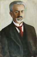 August Macke Portrait of Bernhard Koehler