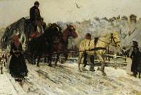George Hendrik Breitner Horses in the Snow