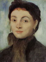 Edgar Degas Portrait of Joséphine Gaujelin